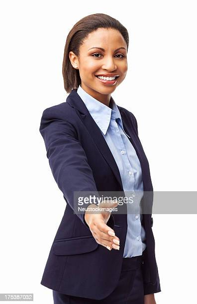 Businesswoman Offering a Handshake - Isolated