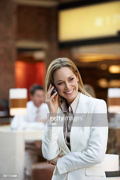 Businesswoman on a Cell Phone