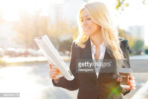 Businesswoman on break