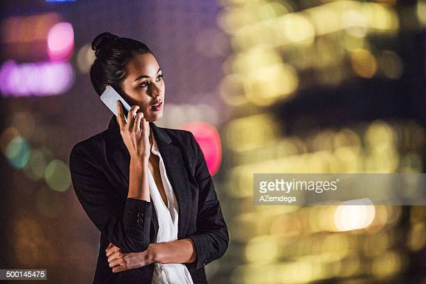Businesswoman on rooftop