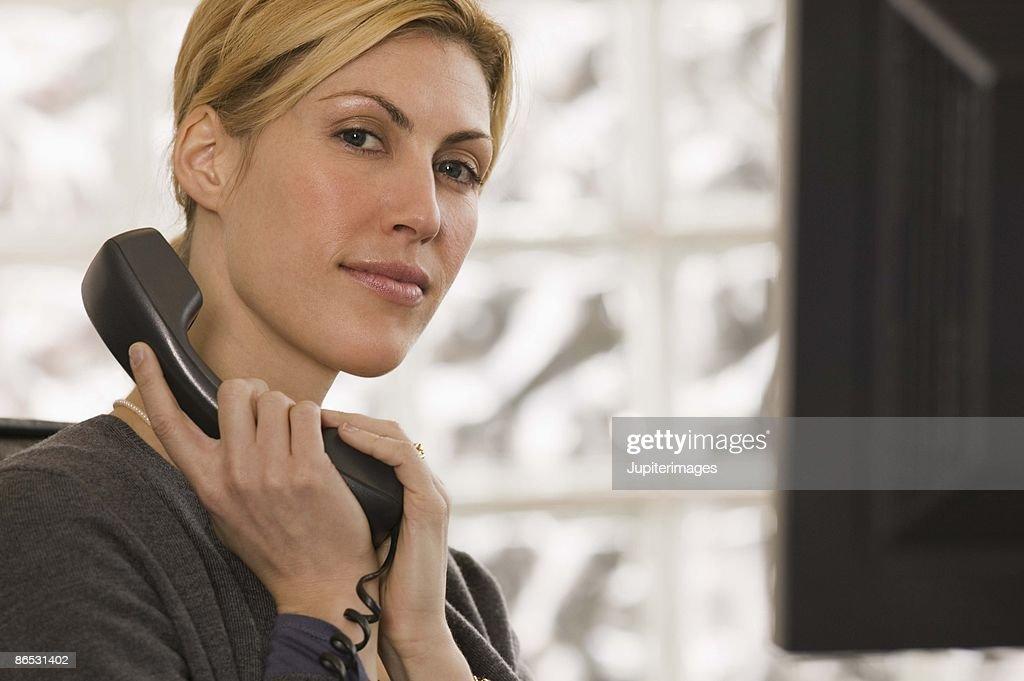 Businesswoman on telephone : Stock Photo