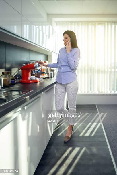 Businesswoman on the coffee break in the office