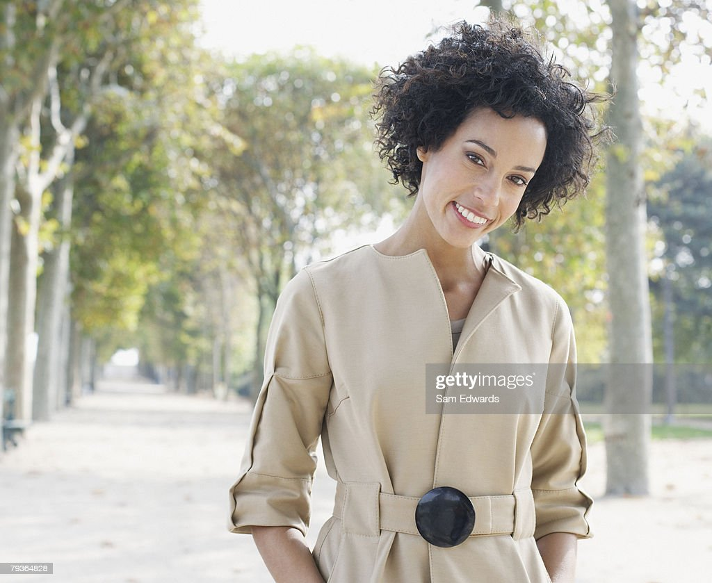 Businesswoman outdoors in park : Stock Photo