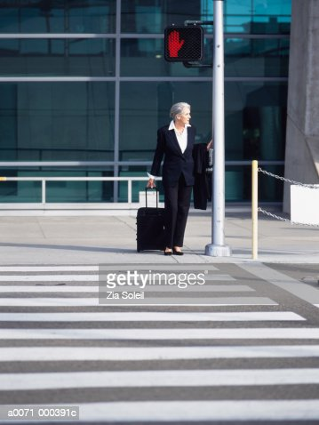Businesswoman Outside Airport : Stock Photo
