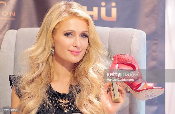 Businesswoman Paris Hilton attends a press conference to promote her new shoe collection Spring/Summer 2017 on November 10 2016 in Torreon Mexico