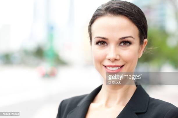 Geschäftsfrau Porträt außerhalb