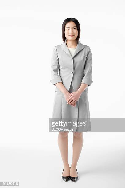 Businesswoman, portrait, studio shot