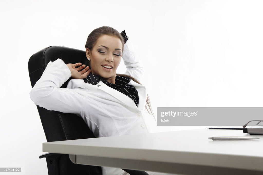 Businesswoman relaxing : Stockfoto