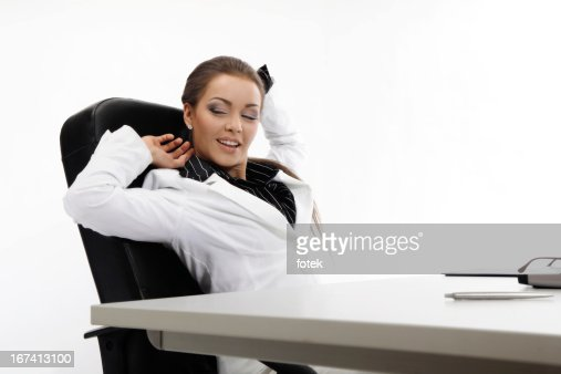 Businesswoman relaxing : Stock Photo