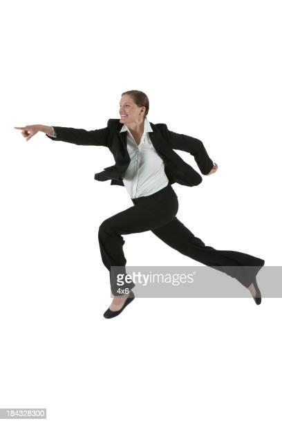Businesswoman running