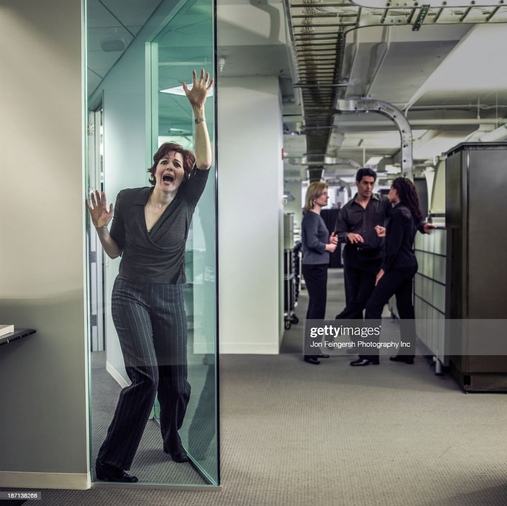 Businesswoman shouting in office
