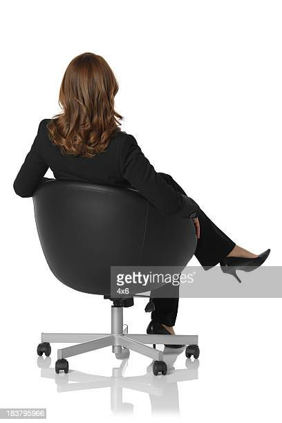 Businesswoman sitting on a chair