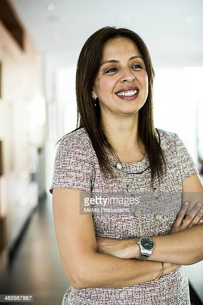 businesswoman smiling
