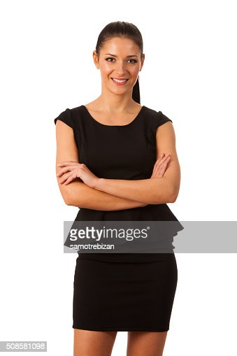 Businesswoman standing full of success, pride and confidence : Stockfoto