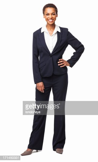 Businesswoman Standing With Hand On Hip - Isolated