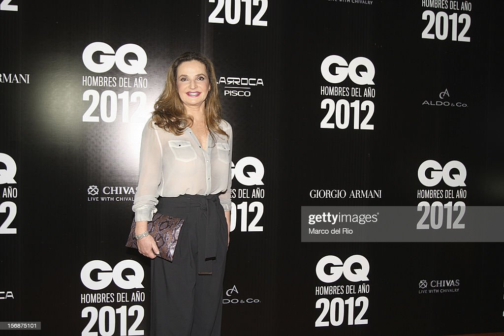 Businesswoman Susana de la Puente poses during the awards ceremony GQ Men of the Year 2012 at La Huaca Pucllana on November 23, 2012 in Lima, Peru.