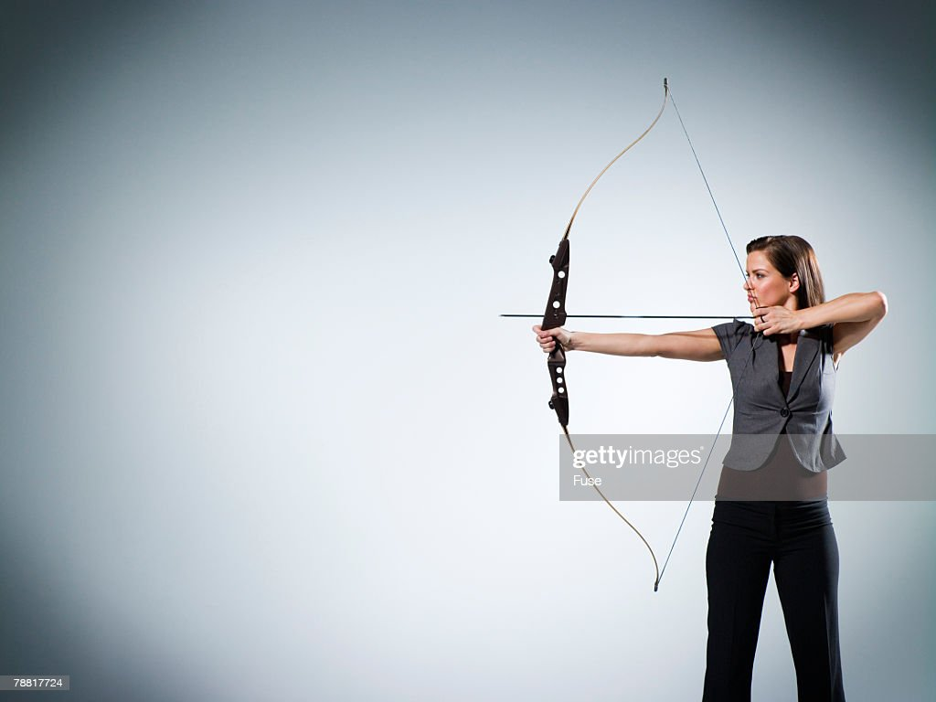 Businesswoman Taking Aim