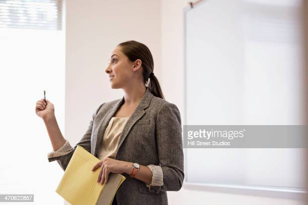 Businesswoman talking in office