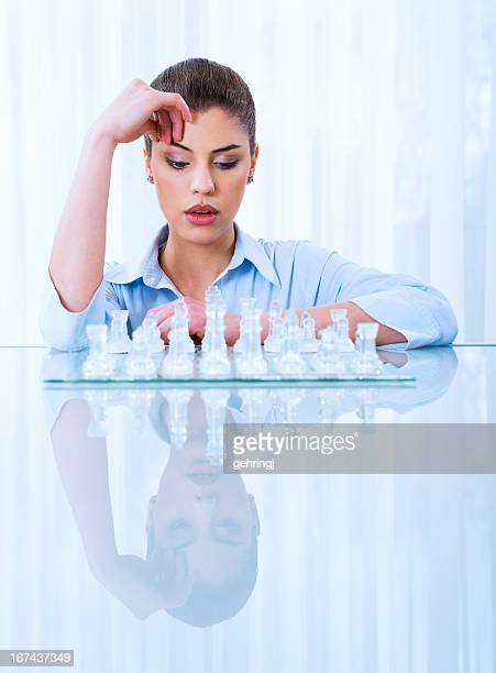 Businesswoman thinking on next move