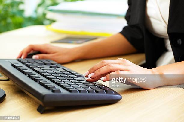 Businesswoman typing