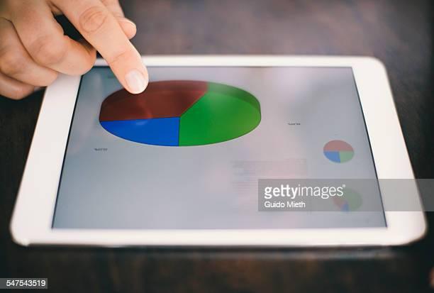 Businesswoman using digital tablet.