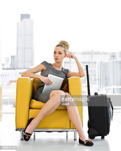Businesswoman waiting for a meeting