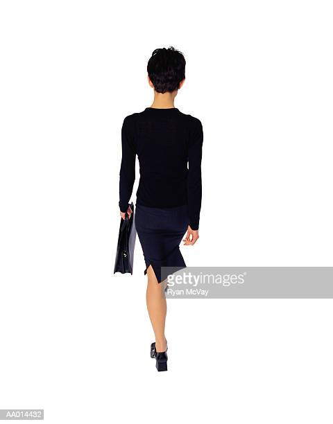 Businesswoman Walking Away with a Briefcase