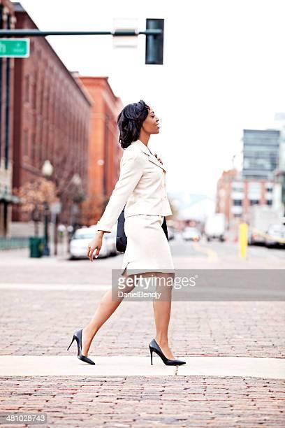 Businesswoman Walking in City