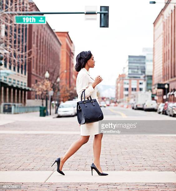Businesswoman Walking in City