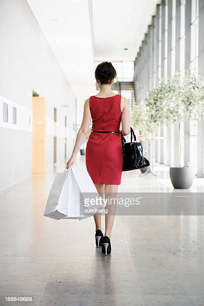 Businesswoman walking in lobby