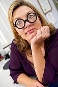 Businesswoman wearing eyeglasses