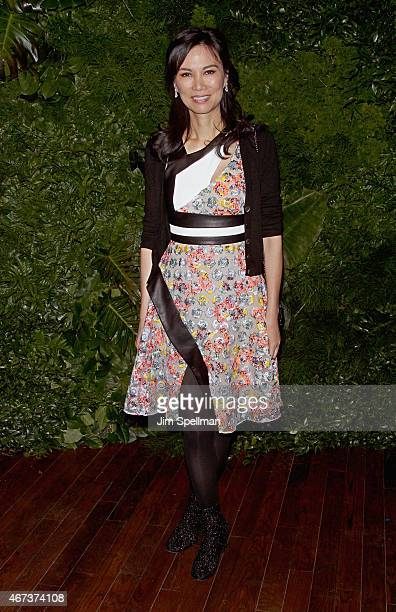 Businesswoman Wendi Deng Murdoch attends the Women's Brain Health Initiative launch at Urban Zen on March 23 2015 in New York City
