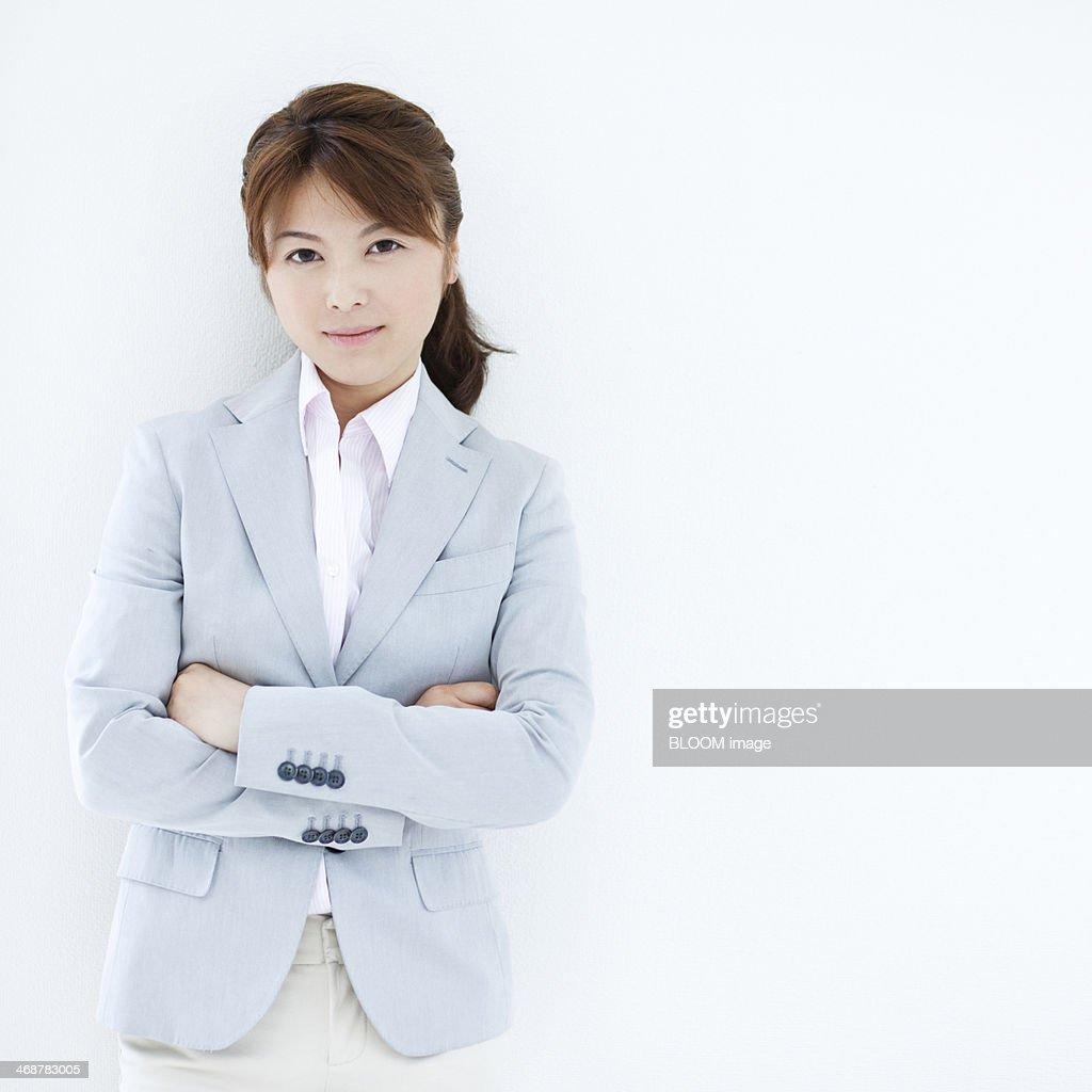 Businesswoman With Arm Crossed : Stock Photo