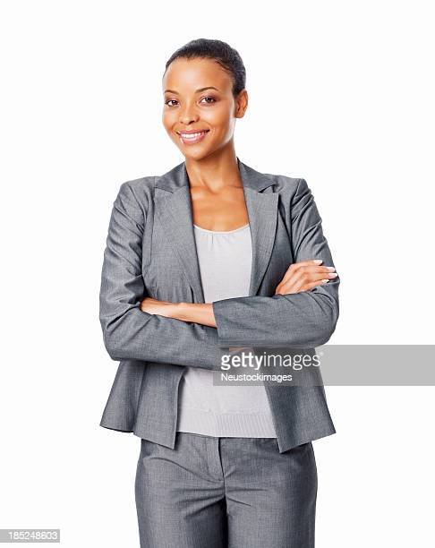 Businesswoman With Arms Crossed - Isolated