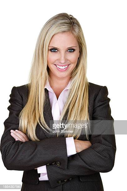Businesswoman with arms crossed