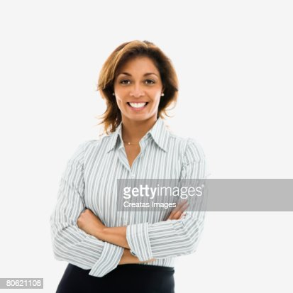 Businesswoman with arms folded : Foto de stock