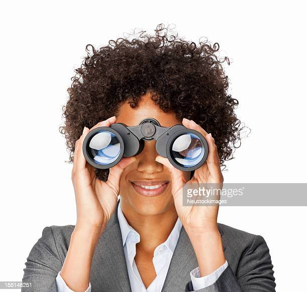 Businesswoman With Binoculars