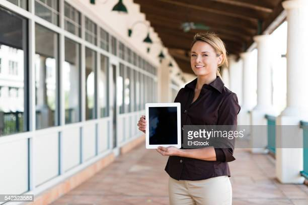 Businesswoman with Digital Tablet Computer