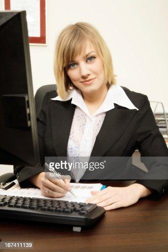 Businesswoman working : Stock Photo