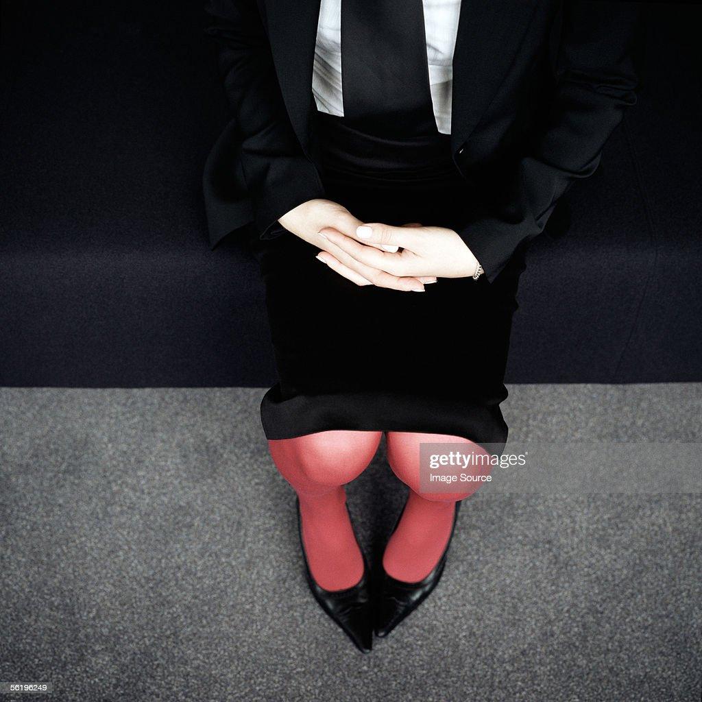 Businesswoman's lap : Stock Photo