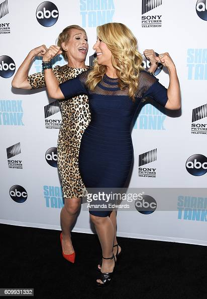 Businesswomen and television personalities Barbara Corcoran and Lori Greiner attend the 'Shark Tank' Season 8 Premiere at the Viceroy L'Ermitage...