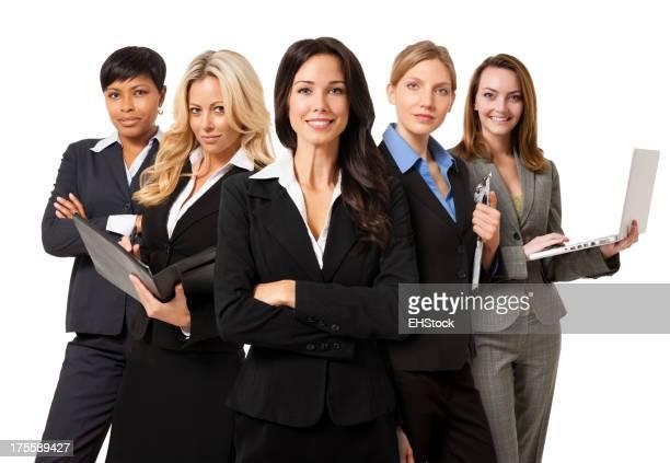 Businesswomen Isolated on White Background