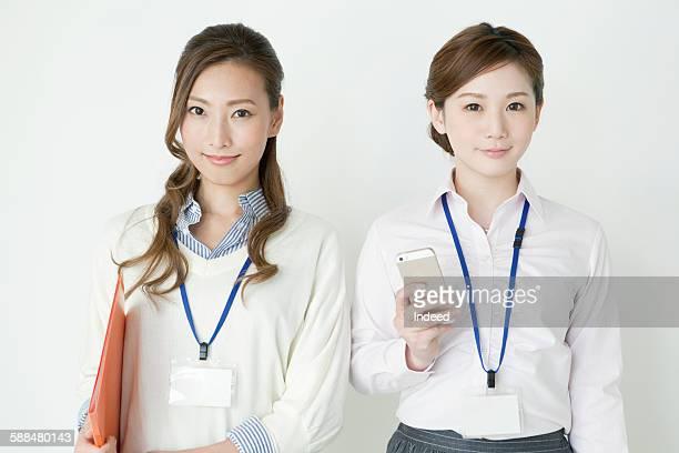 Businesswomen standing side by side