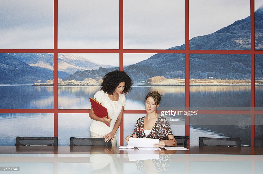Businesswomen Working in Conference Room : Stock Photo