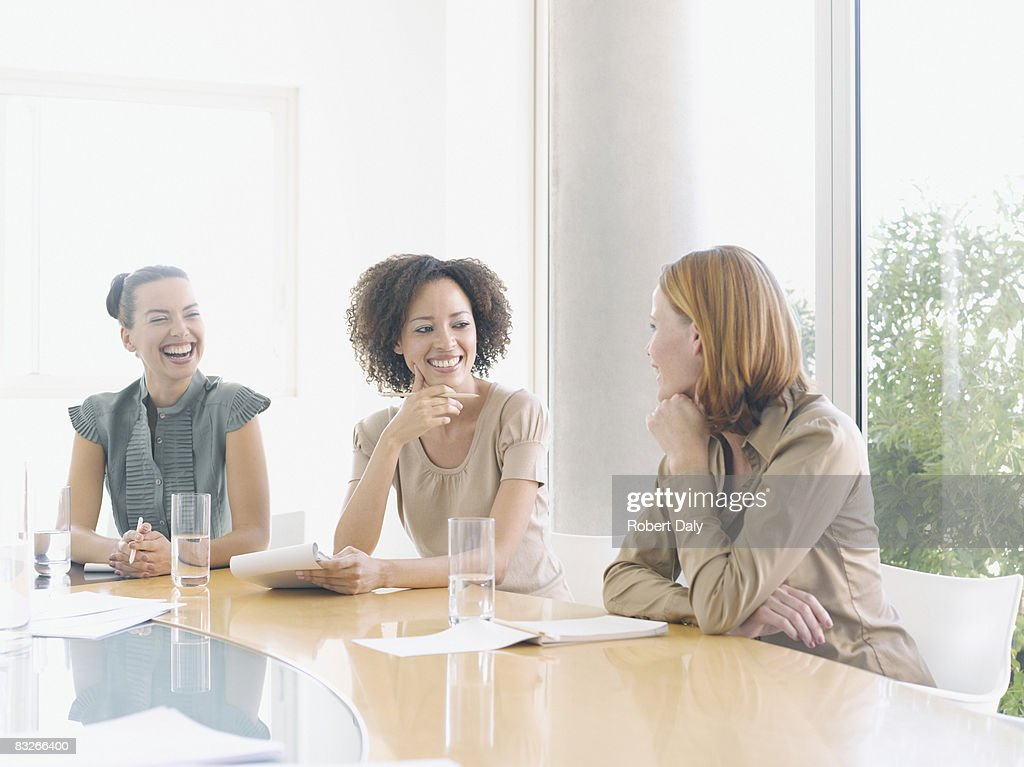Businesswomen working in conference room