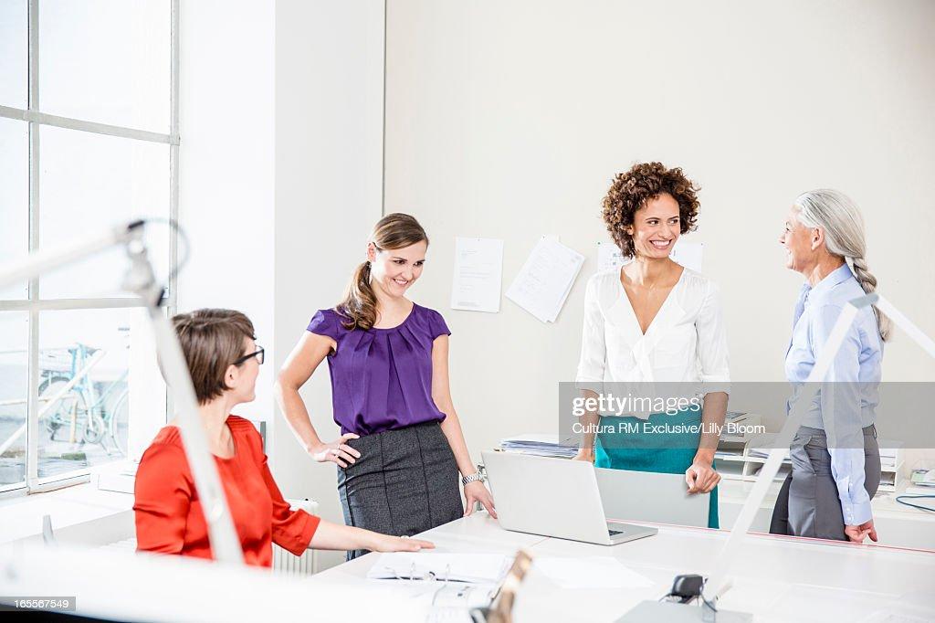 Businesswomen working in office : Stock Photo