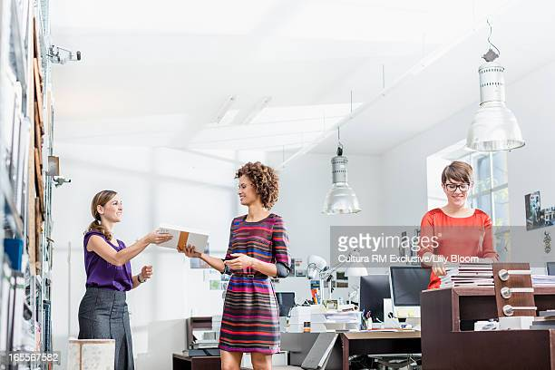 Businesswomen working in office