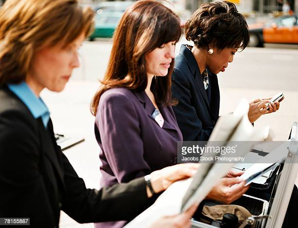 Businesswomen working outdoor
