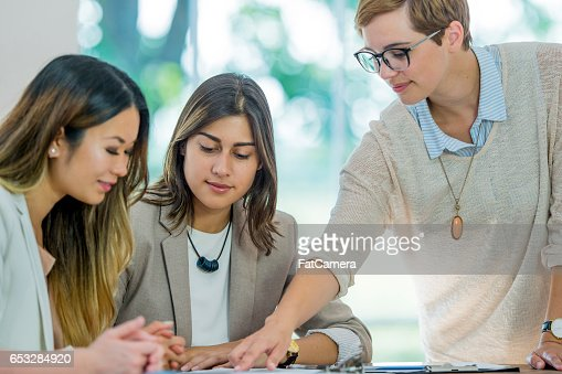 Businesswomen Working Together : Stock Photo