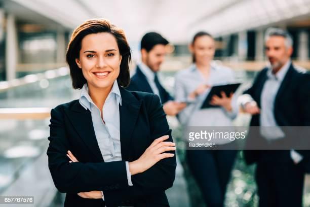 Busineswoman at a meeting